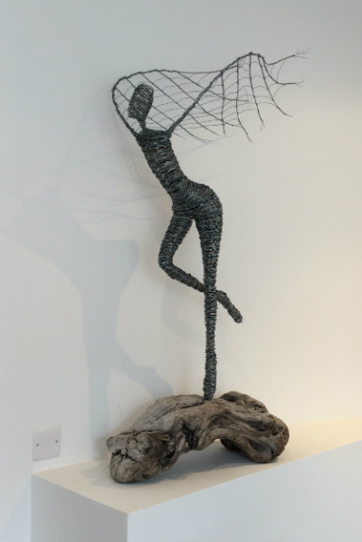 Wire on wood 1