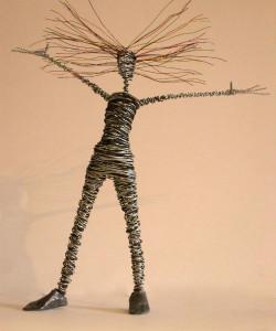 wire figure sculpture rachel ducker