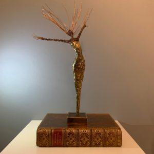 bronze and wire sculpture