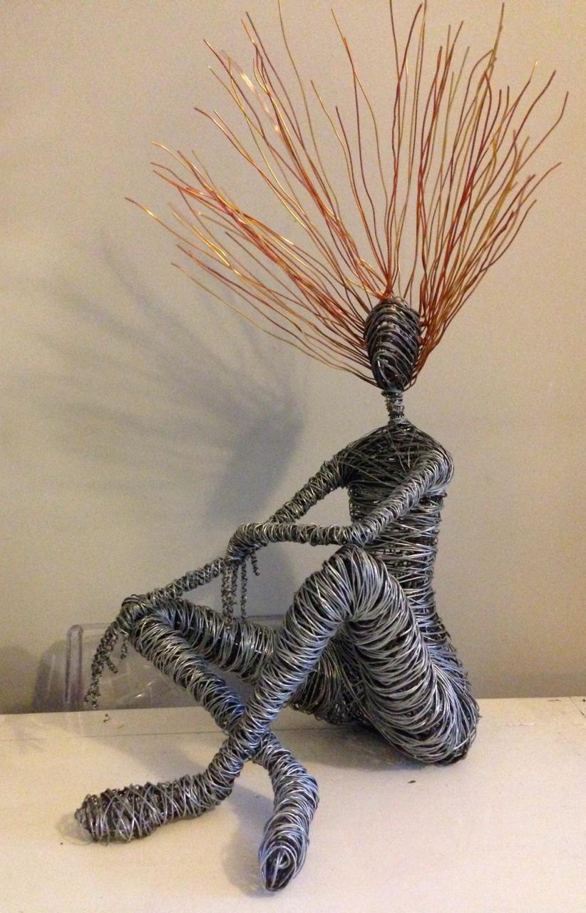 wire sitting sculpture rachel ducker