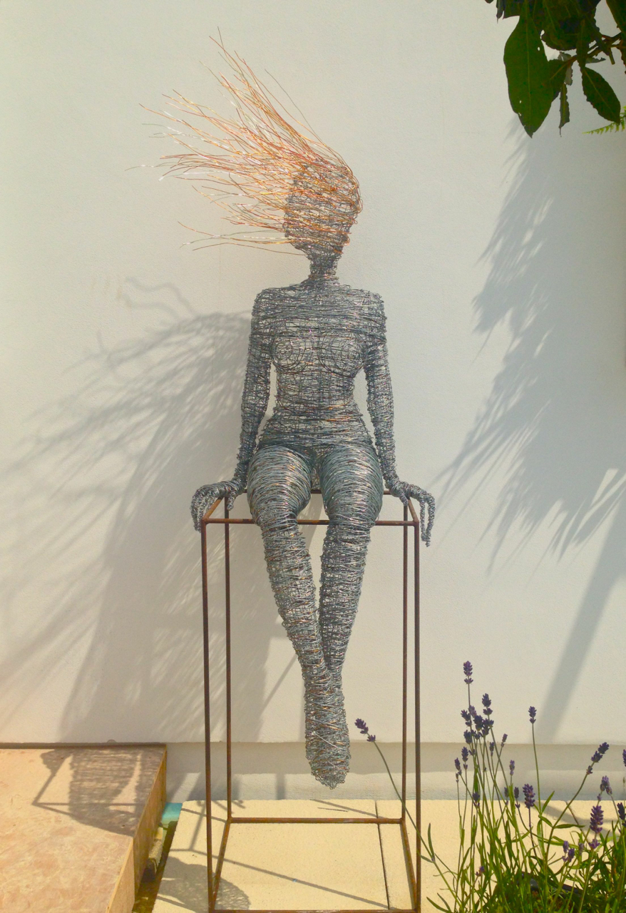 Life size wire sculpture