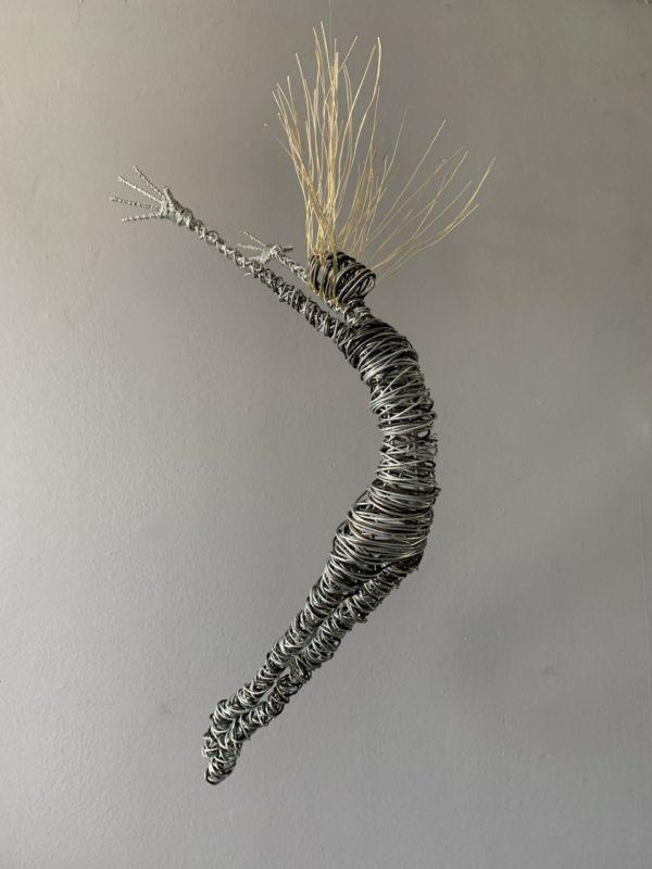 racehl ducker wire sculpture